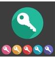 key lock log in icon flat web sign symbol logo vector image vector image