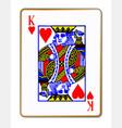 king hearts vector image vector image