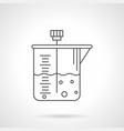 laboratory container flat line icon vector image