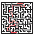 labyrinth maze isolated on white vector image vector image
