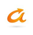 Letter A 3d arrow logo icon design template vector image vector image