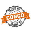 made in congo round seal vector image vector image