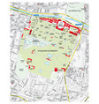 map of the castle and palace park schoenbrunn vector image