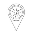 Map pin pointer human sperm cell icon