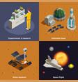 mars colonization 2x2 design concept vector image vector image