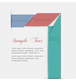 Minimalist style paper background for design vector image vector image