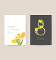 modern woman day 8 march holiday card spring vector image vector image