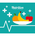 nutrition and health design vector image