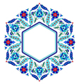Ottoman motifs design series sixty eight vector image vector image