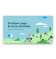 outdoor yoga web landing page template vector image