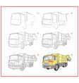 page shows how to learn to draw step step vector image vector image