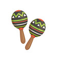 pair of traditional mexican maracas vector image vector image
