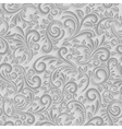 Paper 3d floral pattern vector image