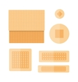 patch plaster set vector image vector image