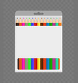 pencils in box color package isolated vector image