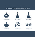 perfume icons vector image vector image