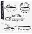 pool service clean and repair set typographic vector image