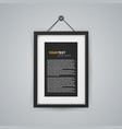 realistic frame icon on the wall vector image