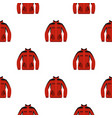 red sweatshirt with a zipper pattern seamless vector image vector image