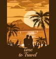 retro vintage style travel poster or sticker vector image vector image