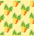 seamless pattern of pineapple on a turquoise vector image vector image