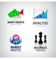 set business concept logos strategy vector image