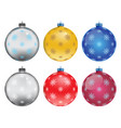 set of colorful christmas balls vector image vector image