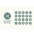 Set of creative process simple icons vector image