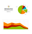 set of flat design infographic charts and graphs 6 vector image vector image