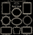 Set of vinatge frames on blackboard vector image vector image