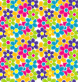 Sewing flowers seamless vector image vector image