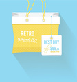 shopping bag and price tag vector image