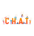 social media chat concept social networks vector image vector image
