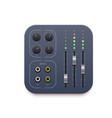 sound mixer music record app icon audio control vector image