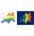 spectrum pixel dotted europe map vector image