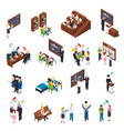 university students isometric set vector image vector image