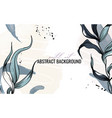 watercolor plant abstract art background vector image vector image