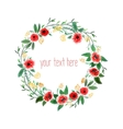 Watercolor Wreath With Flowers vector image vector image