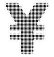 yen halftone icon vector image