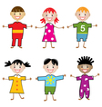 young children vector image vector image