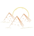 Three pyramids vector image