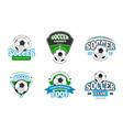 football soccer club logo badge templates vector image
