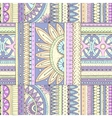Seamless ethnic pattern with geometric elements vector image