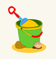 0815 13 a bucket of sand v vector image
