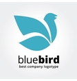 Abstract blue bird logotype concept isolated on vector image vector image