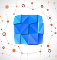 Abstract geometric mosaic rectangle vector image vector image