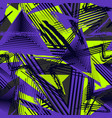 abstract seamless geometric pattern sport style vector image vector image