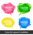 Abstract shape design Colorful spech bubles set vector image