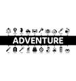 adventure minimal infographic banner vector image vector image