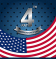 american flag for independence day usa vector image
